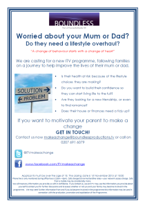 ITV Programme opportunity